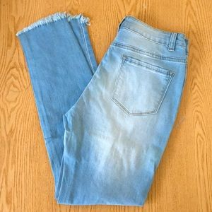 New Women's Distressed Skinny Jeans Frayed Med Lrg